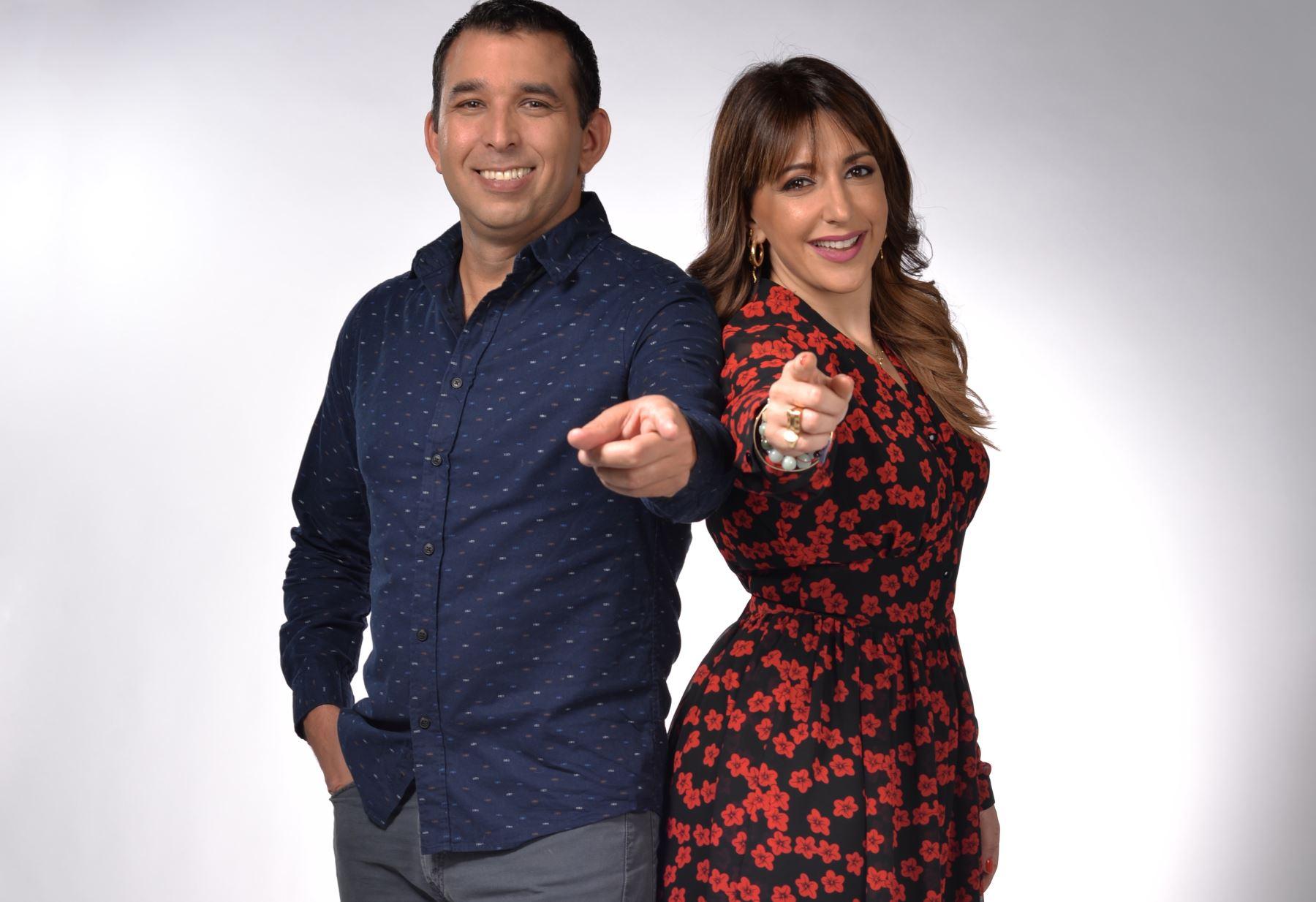 Nicolás Salazar y Carolina Salvatore juntos en un nuevo espacio de TV Perú.