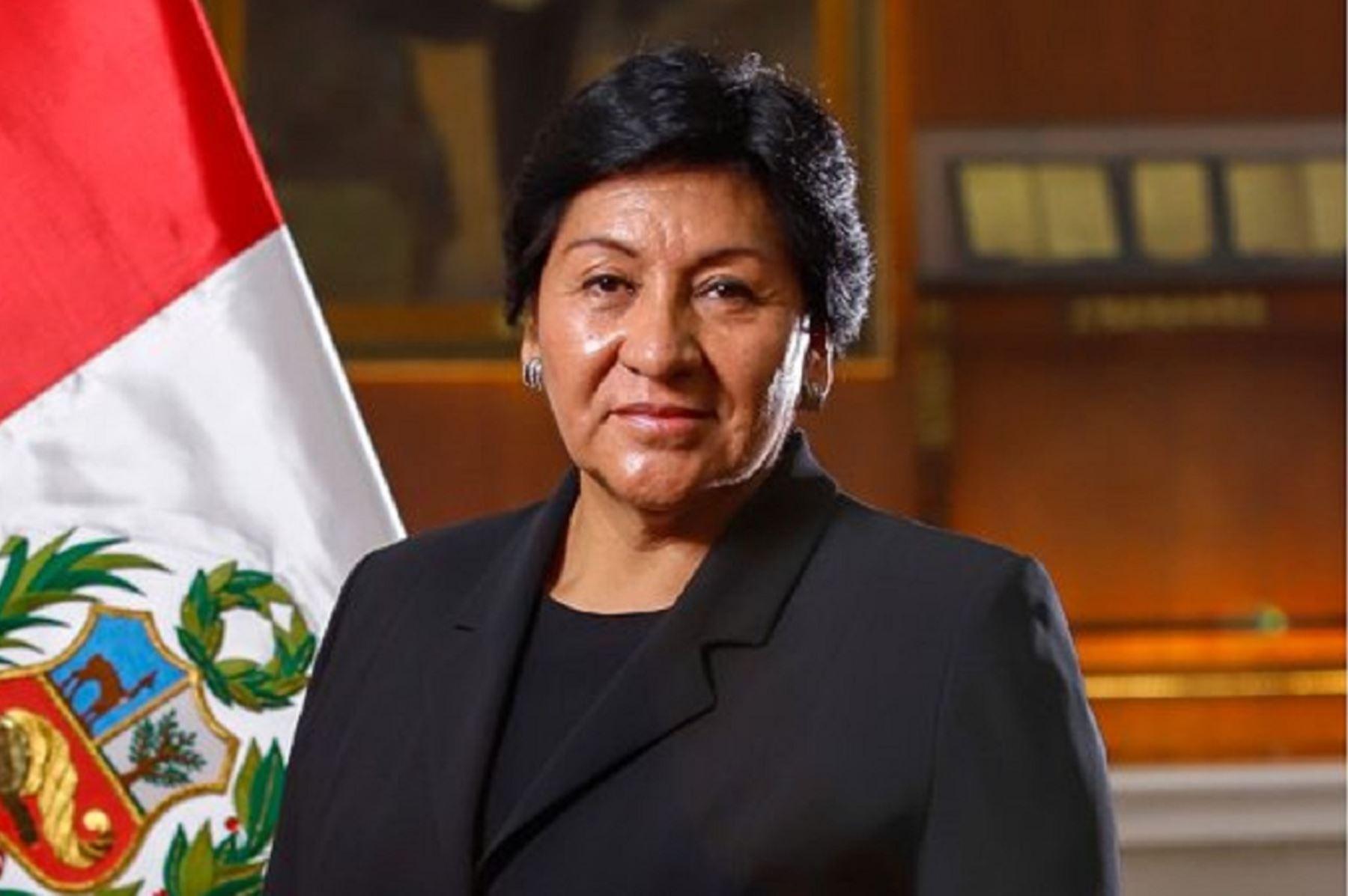 Ministra de Energía y Minas, Susana Vilca. Foto: cortesía.