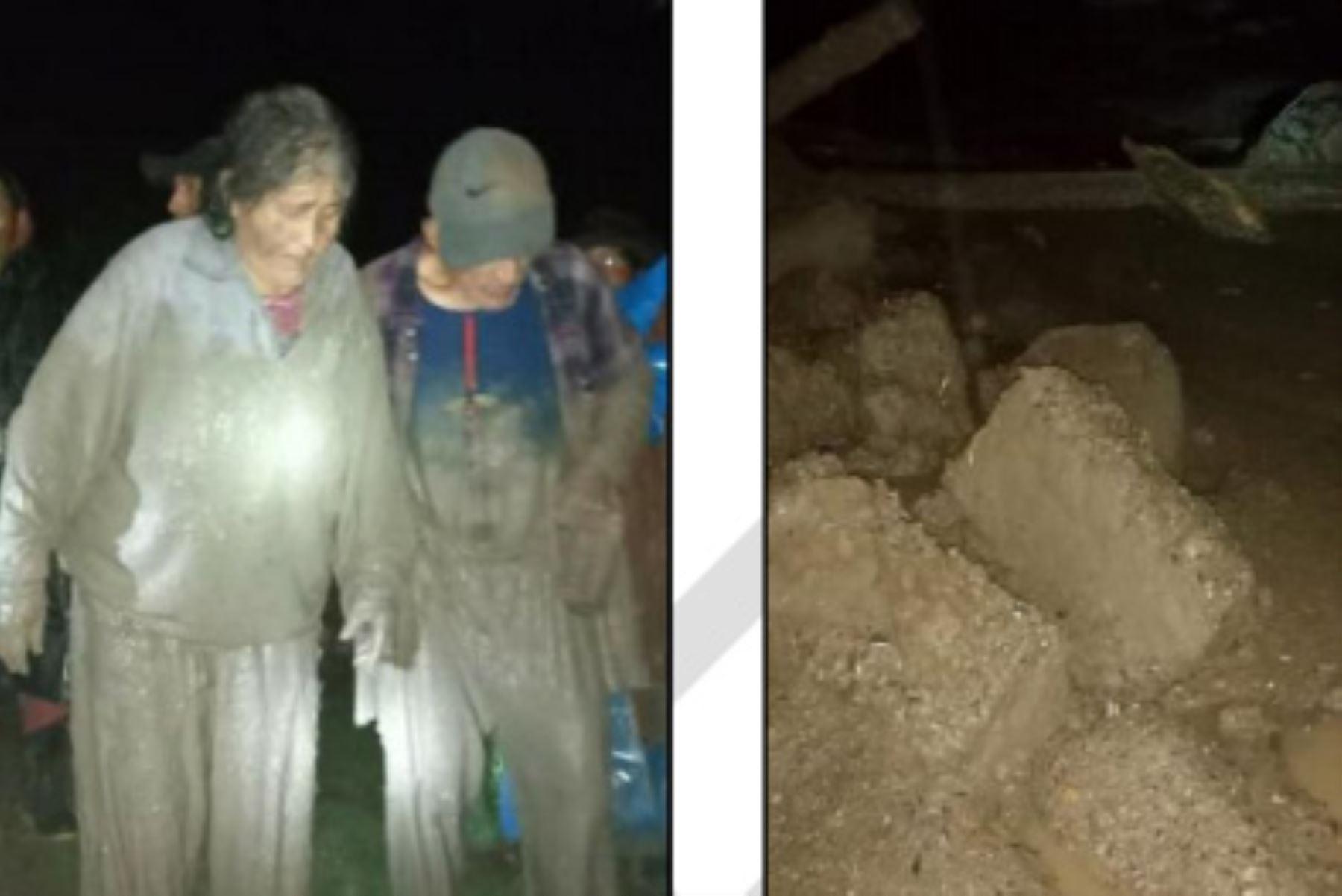 Las lluvias intensas ocasionaron la activación del riachuelo Cocas, que provocó un huaico en el centro poblado de Cocas, región Ayacucho.