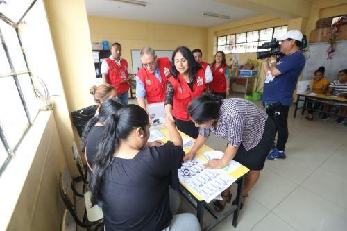 Trujillo: JNE supervisa proceso de consulta vecinal en distritos El Porvenir y Florencia de Mora