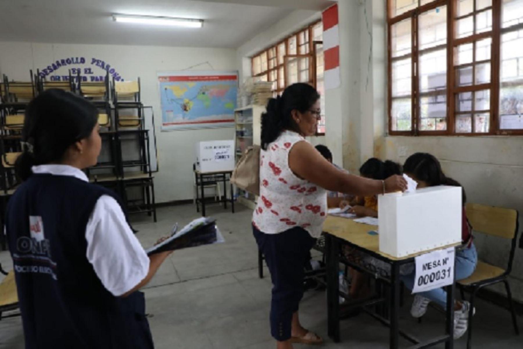 El proceso electoral, organizado por la Oficina Regional de Coordinación (ORC) de Trujillo, concluirá a las 16:00 horas.