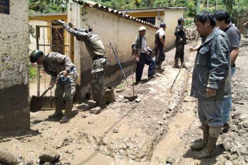 El Minza movilizó equipo de emergencia a Ayacucho integrado por 15 brigadistas y cuatro especialistas en el manejo de emergencias y desastres.