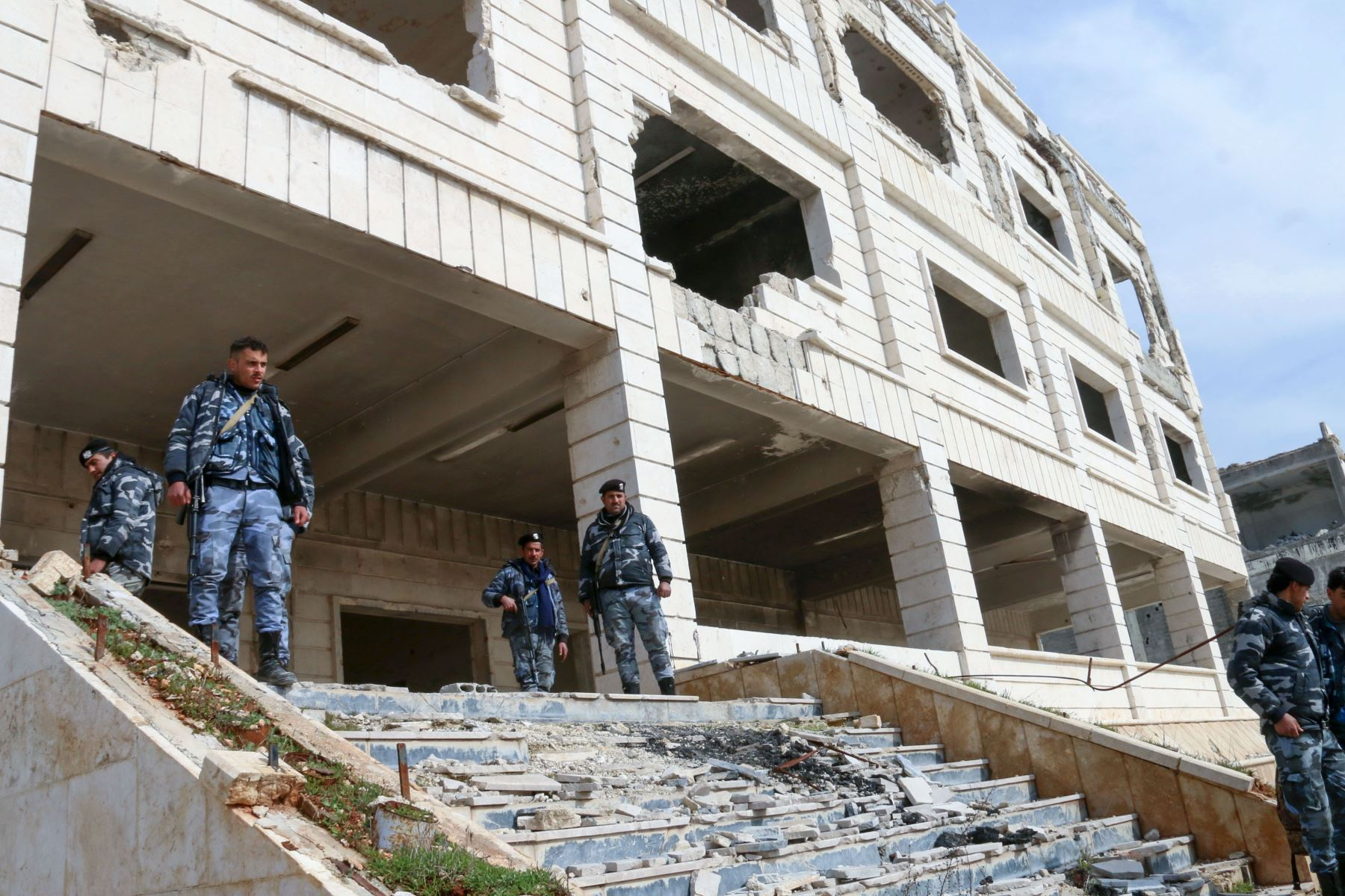 Ataque en Siria. Foto: AFP