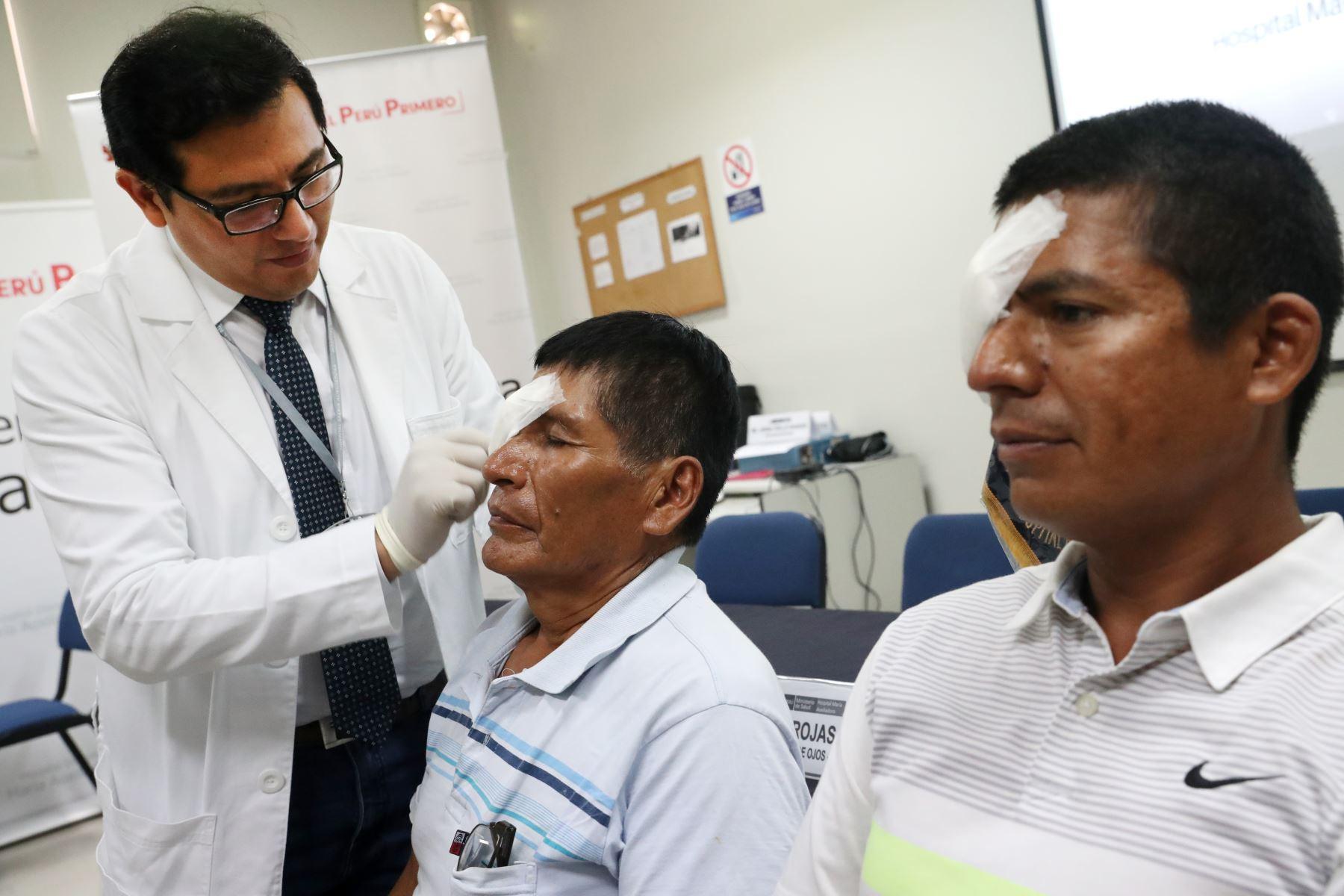 Hospital Maria Auxiliadora presenta casos exitosos de pacientes con transplante de cornea. Foto: ANDINA/Melina Mejía