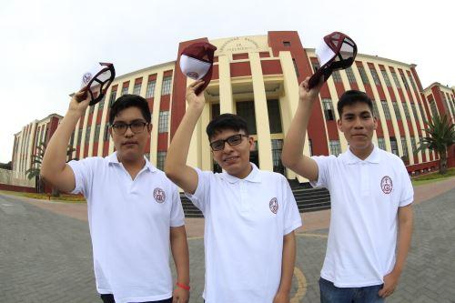 La Universidad Nacional de Ingeniería presentó a los tres primeros puestos del Concurso de Admisión 2020-1.