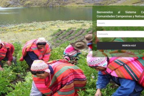El Sistema Catastral para Comunidades Campesinas y Nativas (Sic-Comunidades) es una herramienta moderna y de fácil acceso que permite concentrar la información del catastro rural que generan los gobiernos regionales.