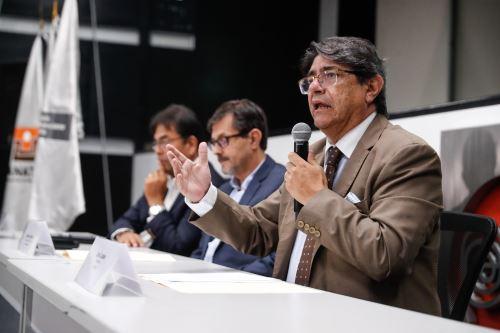 Presidente de Canatur, expone detalles de la Expo Perú Turismo 2020. ANDINA/Renato Pajuelo