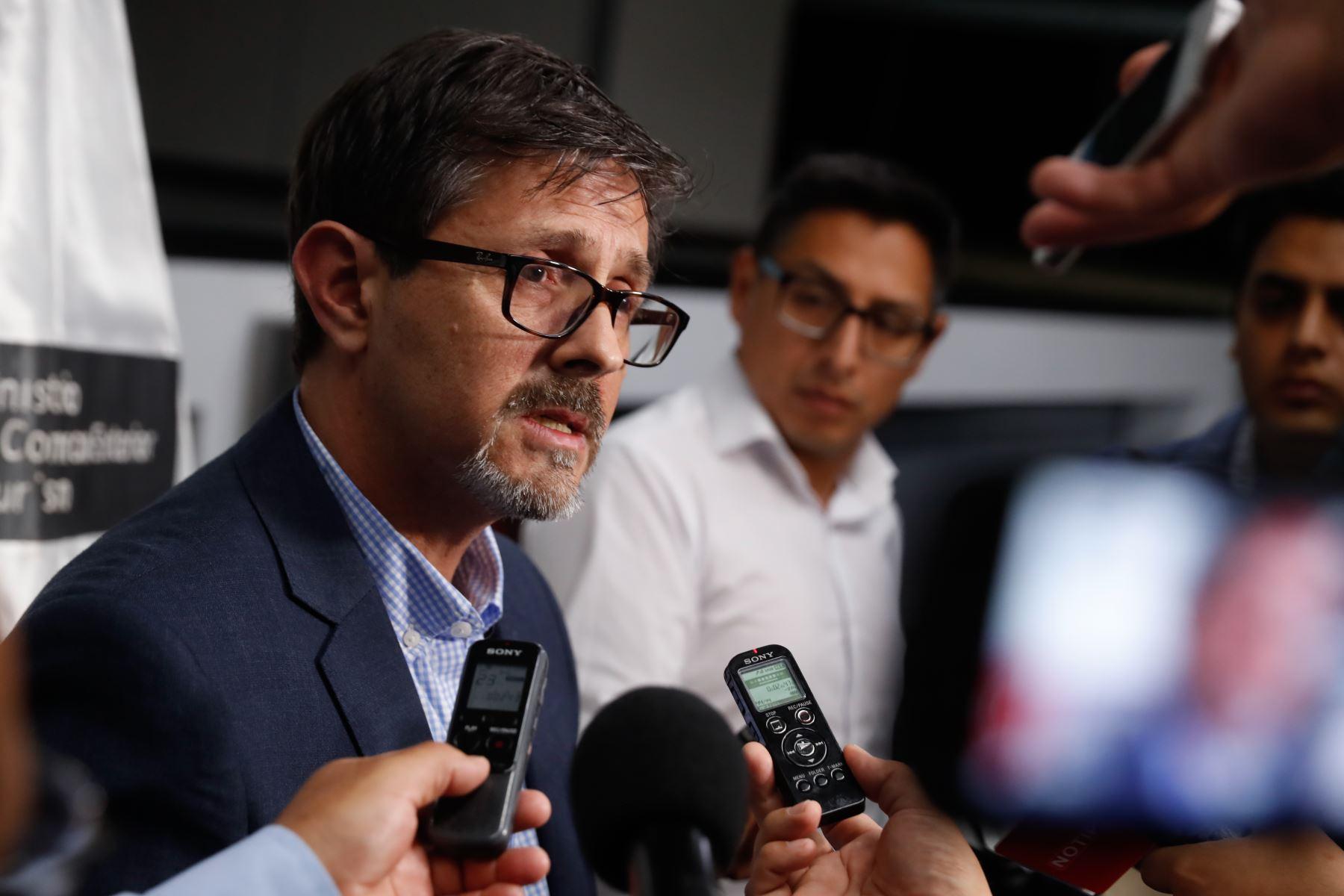 Viceministro de Turismo, Guillermo Cortés Carcelén. ANDINA/Renato Pajuelo