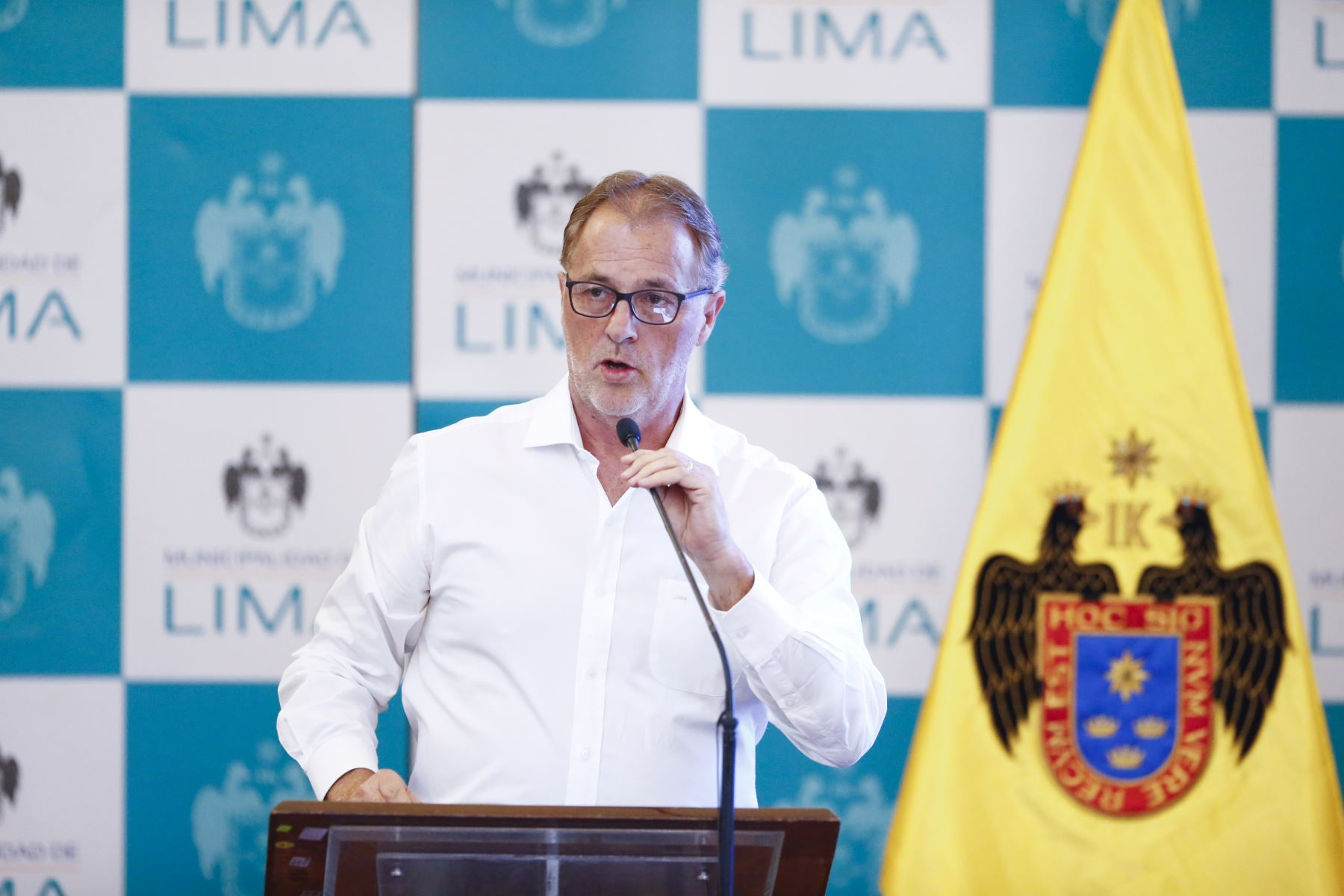 El alcalde de Lima, Jorge Muñoz, informa sobre los principales logros de la gestión durante el 2019. Foto: ANDINA/Jhonel Rodríguez Robles
