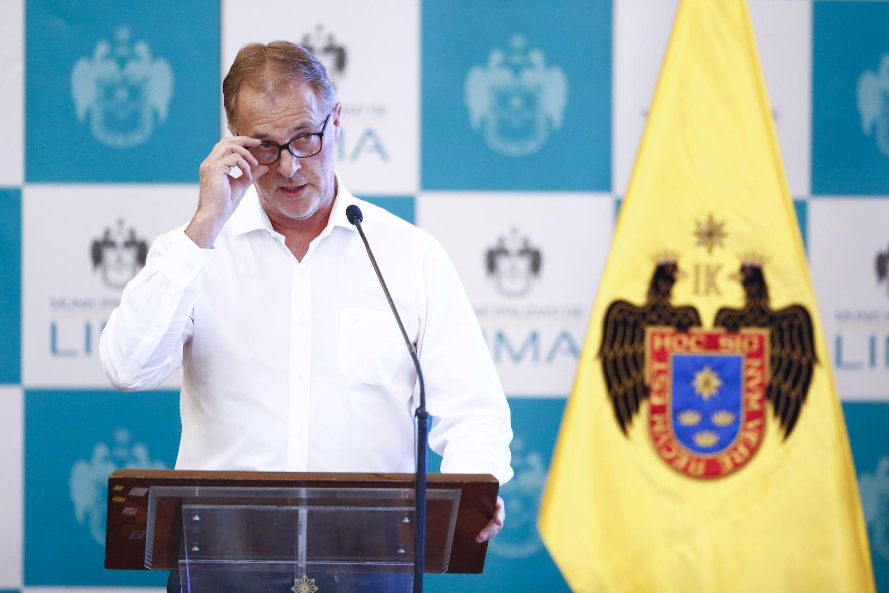 El alcalde de Lima, Jorge Muñoz, informa sobre los principales logros de su gestión durante el 2019. Foto: ANDINA/Jhonel Rodríguez Robles