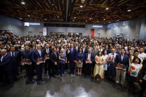 Presidente de la República, Martín Vizcarra, participa en el anuncio de las cifras de exportaciones 2019
