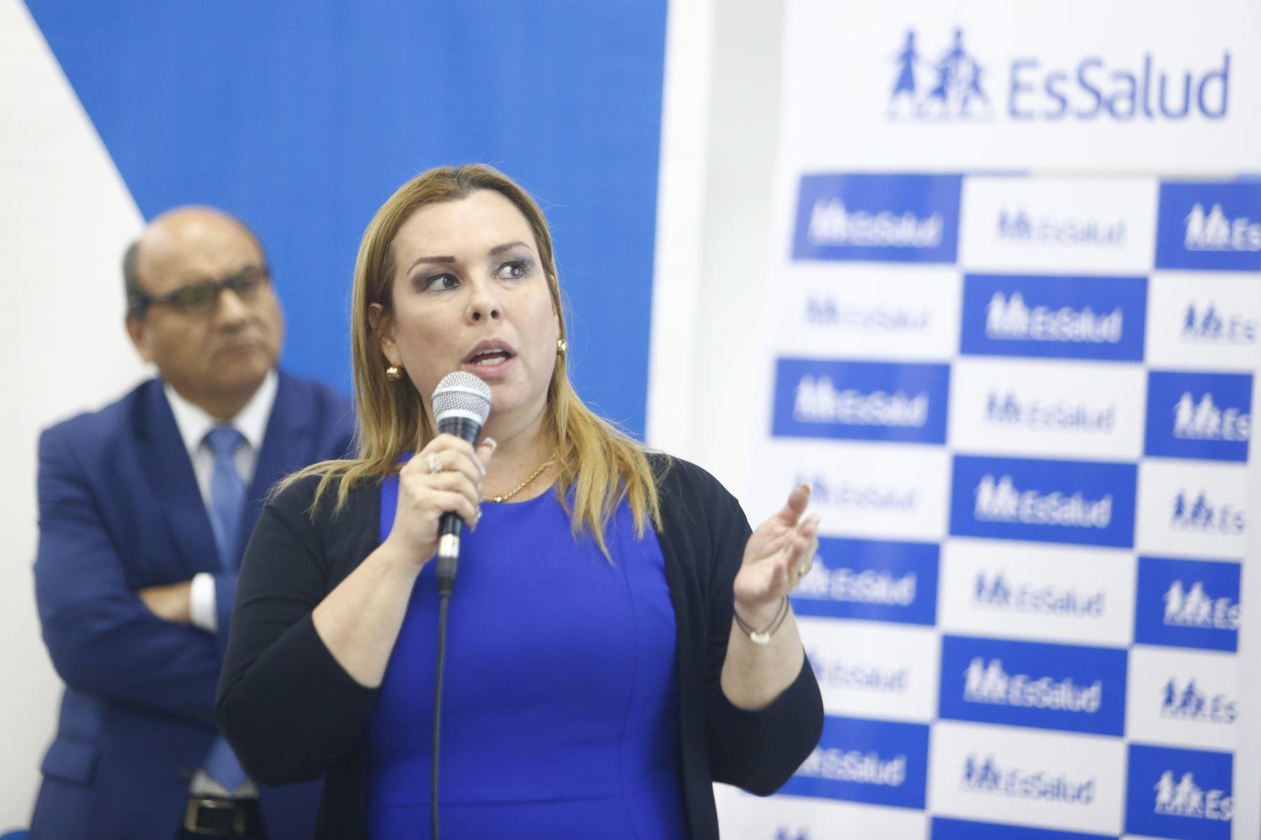 Fiorella Molinelli, presidenta de Essalud. Foto: ANDINA/Jhonel Rodríguez Robles