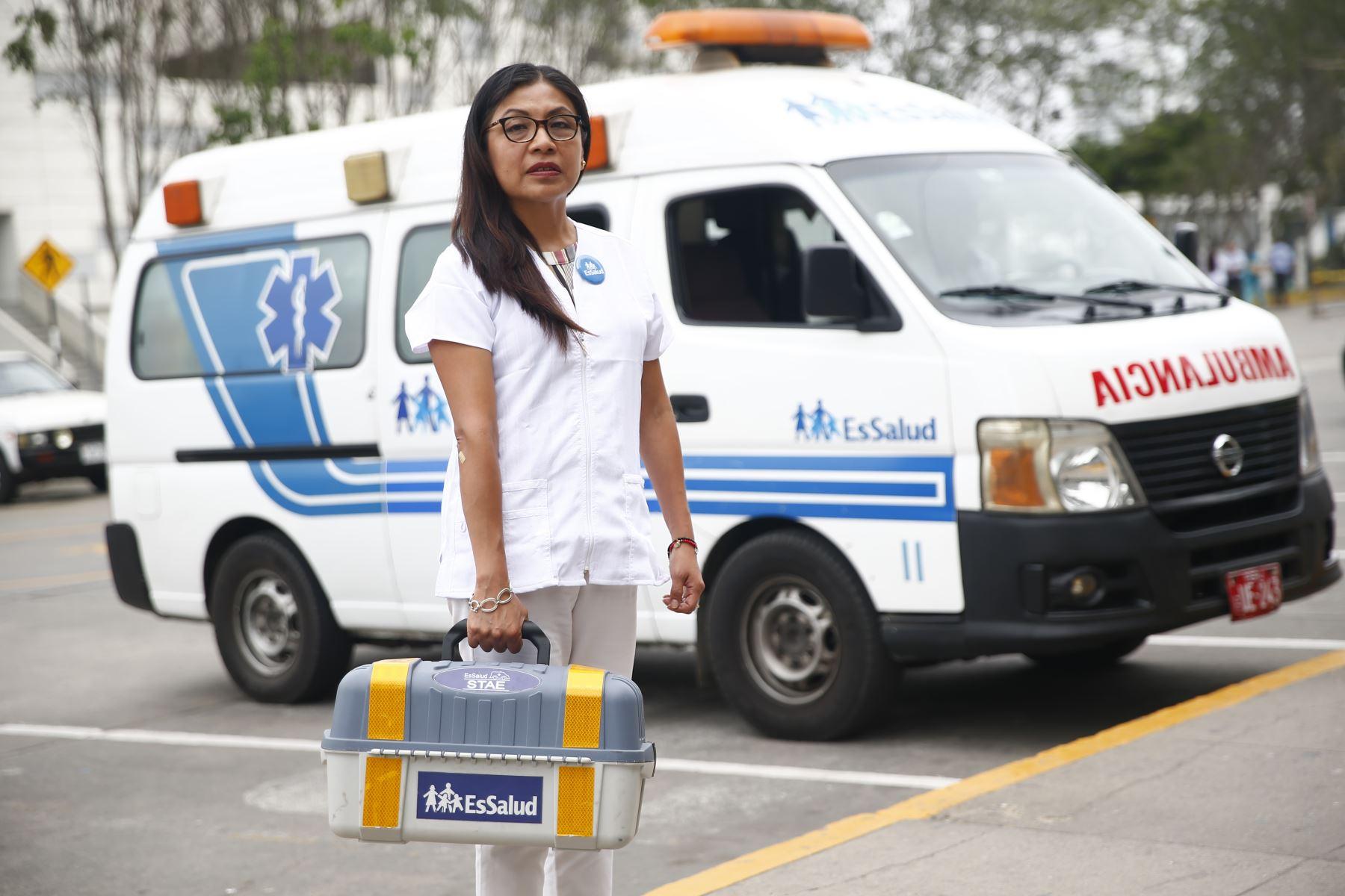 Nefróloga Patricia Chilet es gerente de Procura de EsSalud y responsable de activar un sistema que salva vidas por medio de la donación y trasplante de órganos. ANDINA/Jhonel Rodríguez Robles