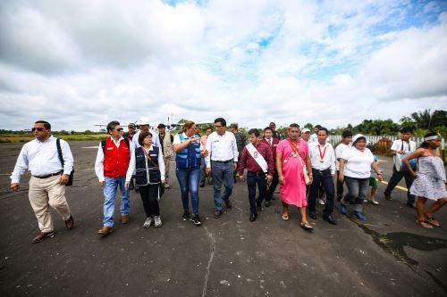 El Presidente  del Consejo de Ministros llega a la ciudad de Iquitos para supervisar el funcionamiento de diversos servicios públicos