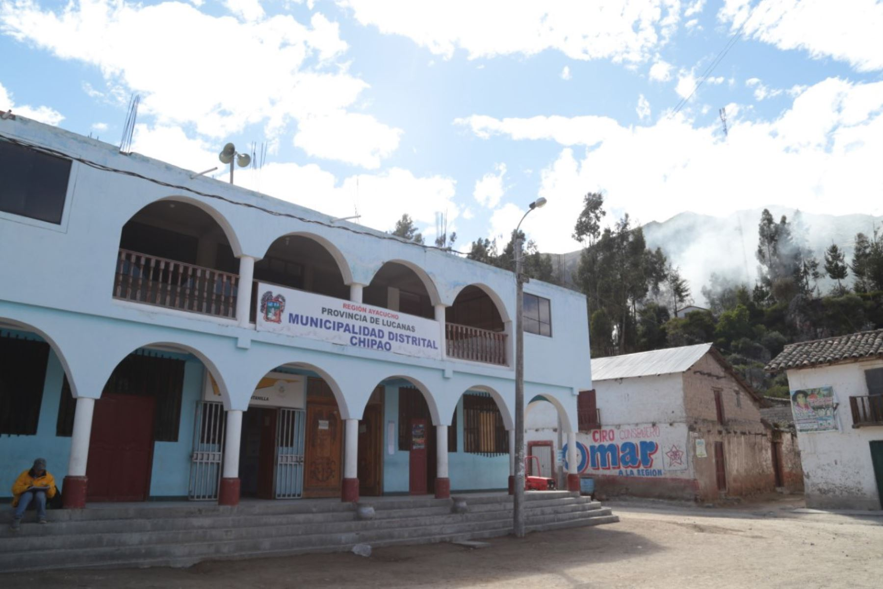 Palacio Municipal del distrito de Chipao, en el departamento de Ayacucho.