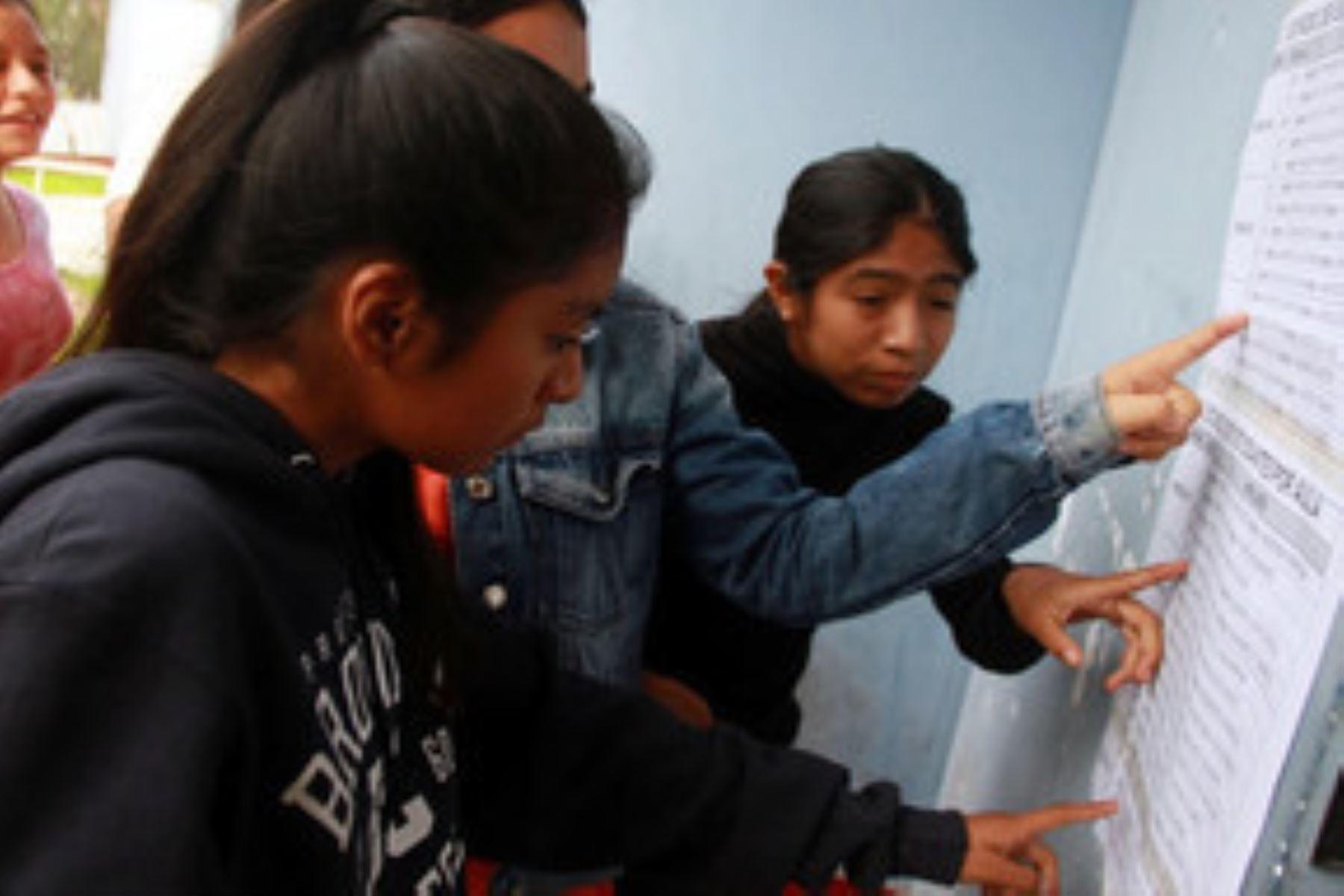 Estudiantes de todas las regiones participaron en primera fase de evaluación. Foto: Minedu
