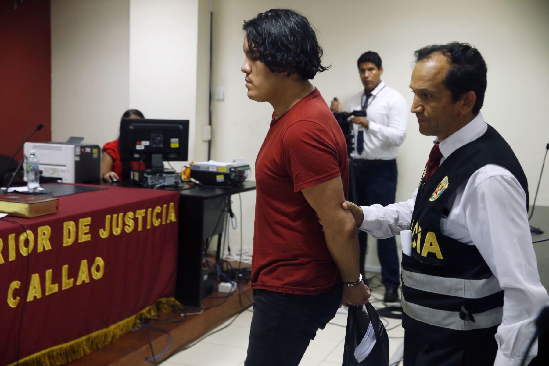 Dictan nueve meses de prisión preventiva a Kevin Villanueva y Andrea Aguirre, presuntos coautores del delito de homicidio calificado en agravio de la joven madre y activista Solsiret Rodríguez. Foto: ANDINA/Eddy Ramos