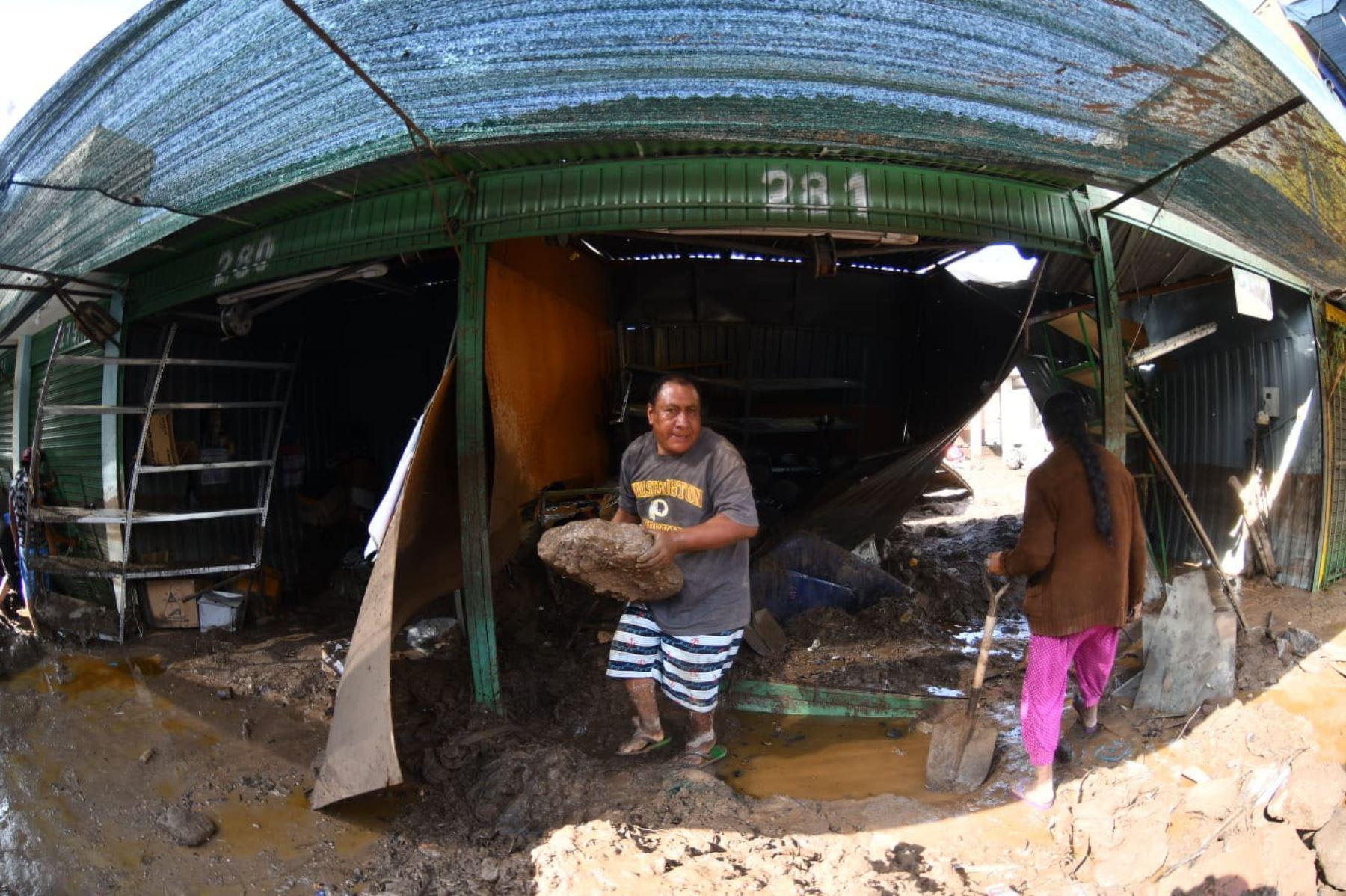 Fuertes lluvias y huaicos  arroja que al menos hay 250 viviendas afectadas, así como diversas infraestructuras que sufrieron daños por las precipitaciones. Foto : Cortesía /Diego Ramos Lupo