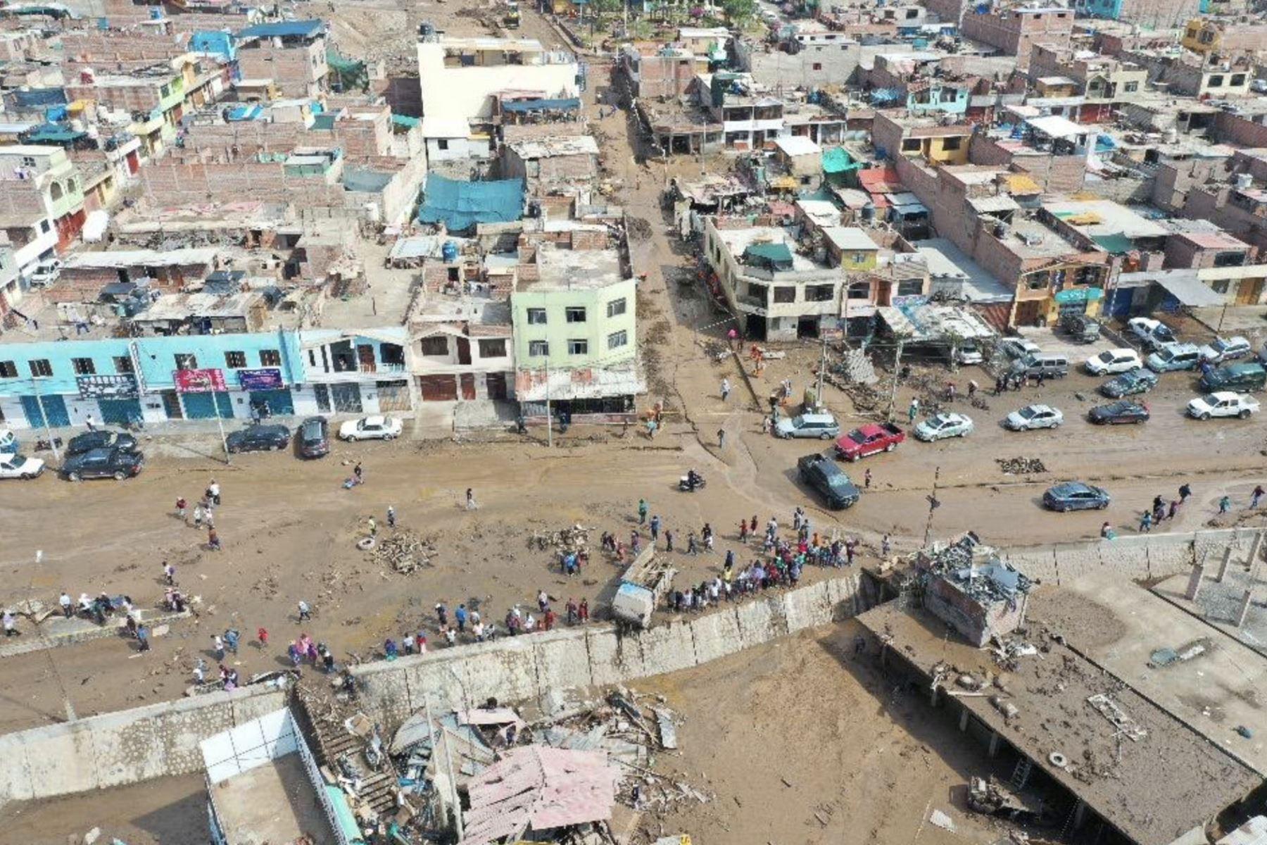 Huaico en Tacna: Ingemmet recomienda reubicar viviendas ubicadas en Quebrada del Diablo. ANDINA/Difusión