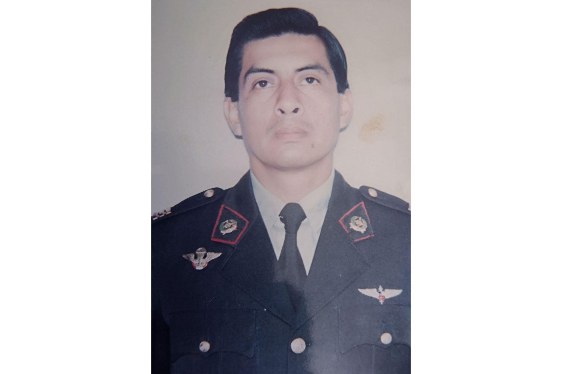 Mayor Luis Alberto García Rojas, Patrono de la Aviación del Ejército, héroe el Alto Cenepa, quien demostró sacrificio y amor por defender el territorio patrio. Foto: ANDINA/ Difusión