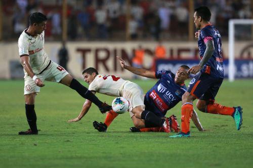 Universitario cayó derrotado ante la Universidad César Vallejo por dos goles a cero