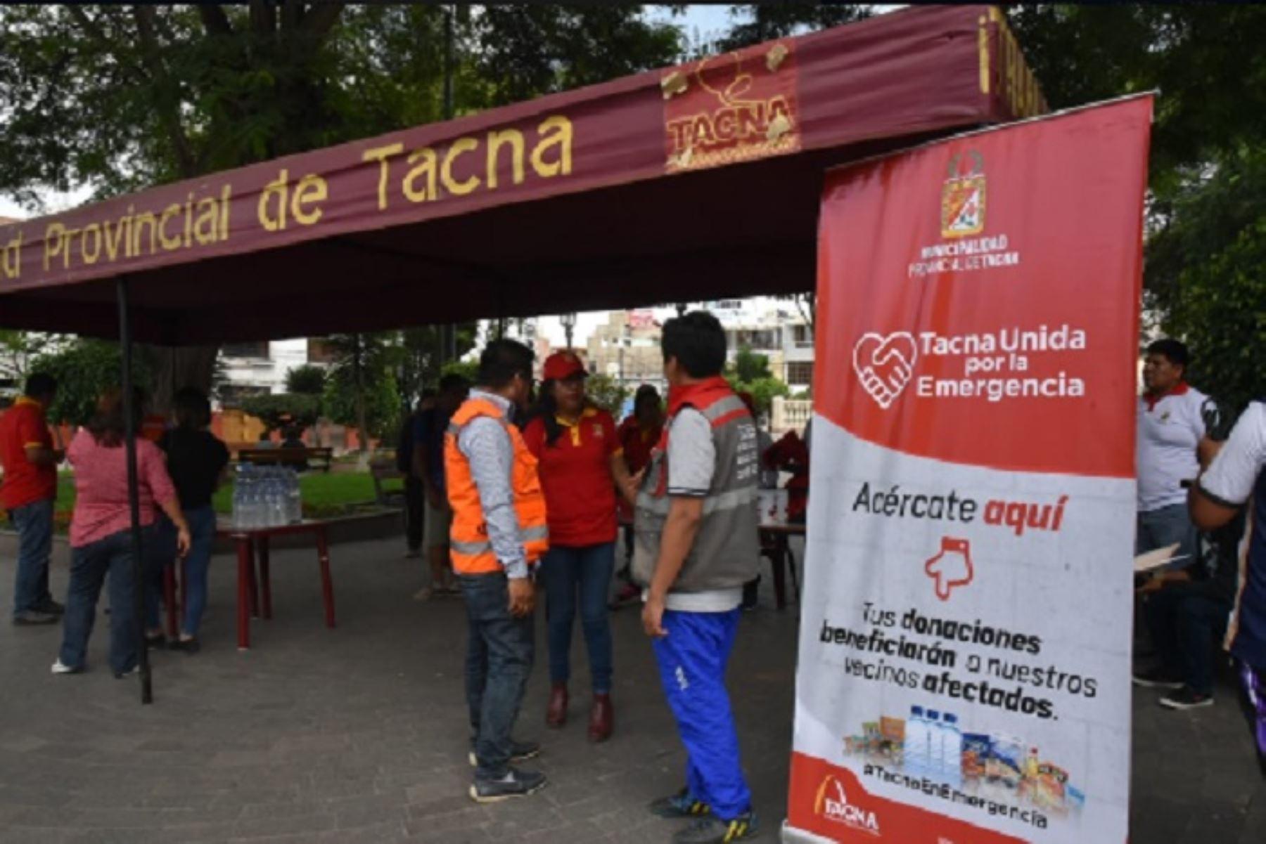 El alcalde provincial, Julio Medina, junto al grupo Scouts del Perú filial Tacna, llevarán los donativos hacia el sector La Florida para ser entregados a las personas afectadas.