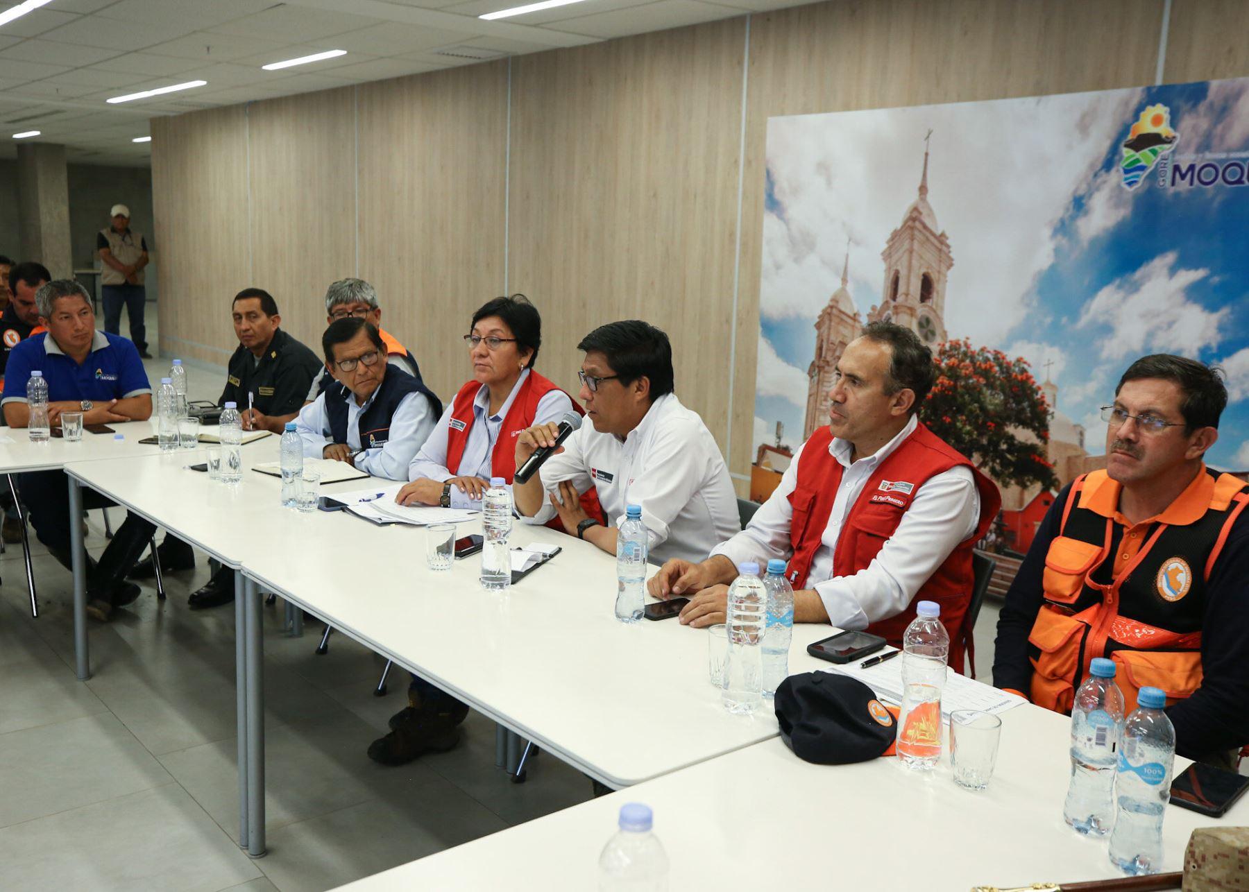 Jefe del Gabinete Ministerial, Vicente Zeballos, se reunió con autoridades de la región Moquegua.