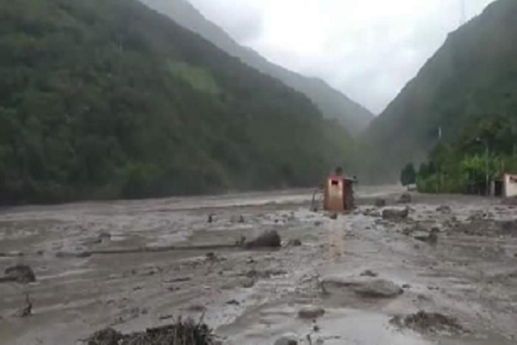 Cusco: distrito de Santa Teresa en peligro por aluvión de gran magnitud