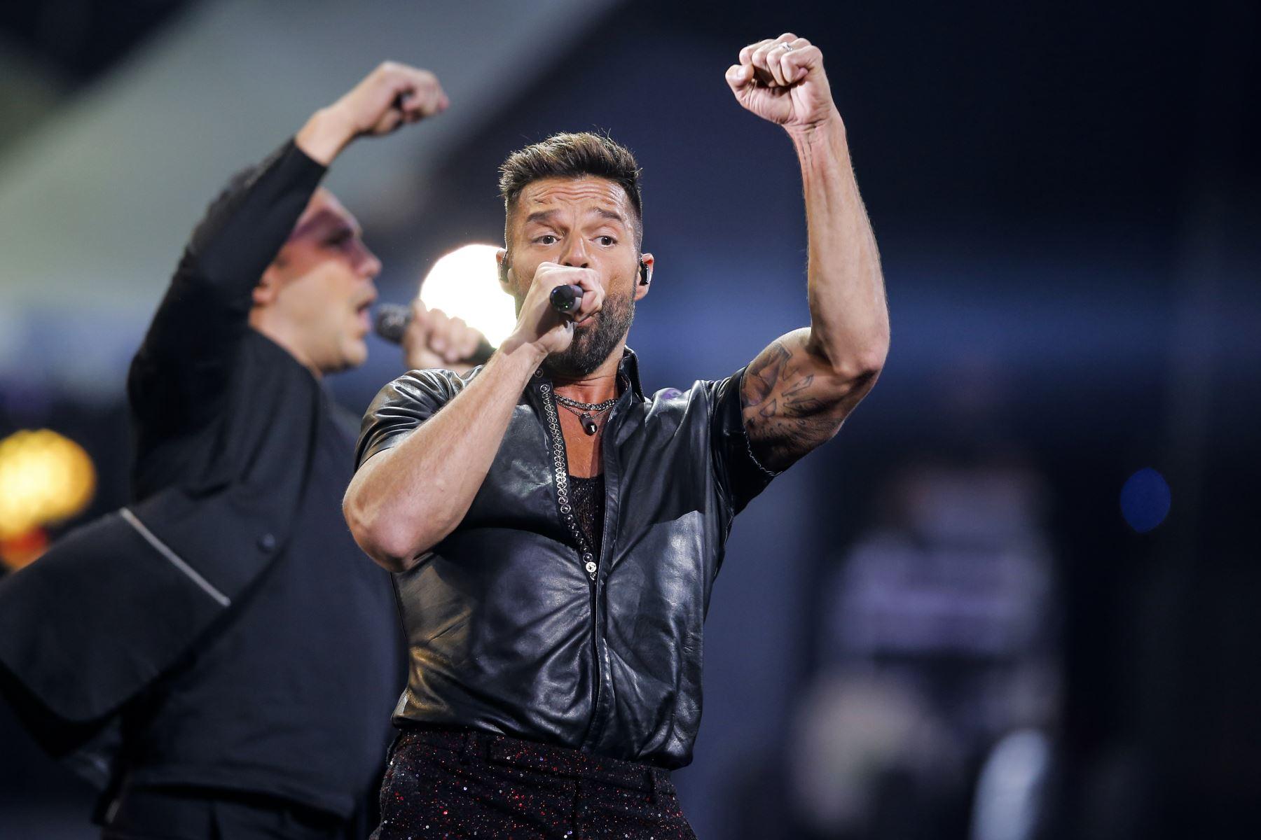 El cantante puertorriqueño Ricky Martin  se presenta en el 61 Festival Internacional de la Canción de Viña del Mar. AFP