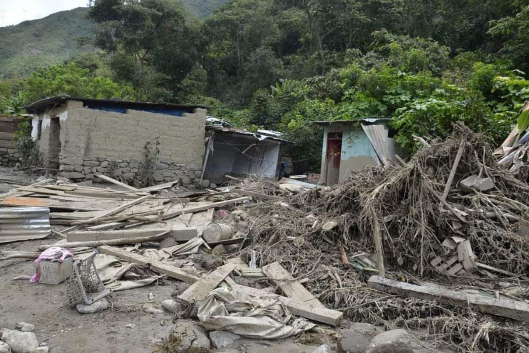 Aluvión en Santa Teresa: 290 destruidas y 1160 damnificados indica primer reporte de daños