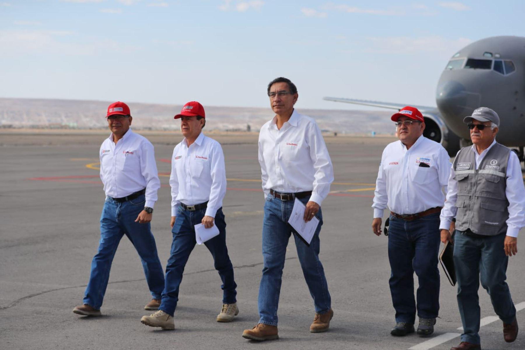 Presidente Martín Vizcarra llega a la región Tacna. Foto: ANDINA/ Prensa Presidencia