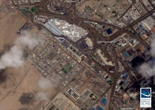 Satélite PerúSAT-1 capta zona de emergencia tras huaicos en Tacna
