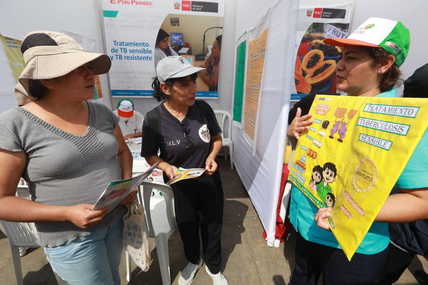 """Campaña """"La tuberculosis sí se cura en La Víctoria"""". ANDINA/Difusión"""