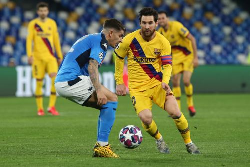 Barcelona vs Napoli igualan 1-1 por los 8º de final de la Champions League