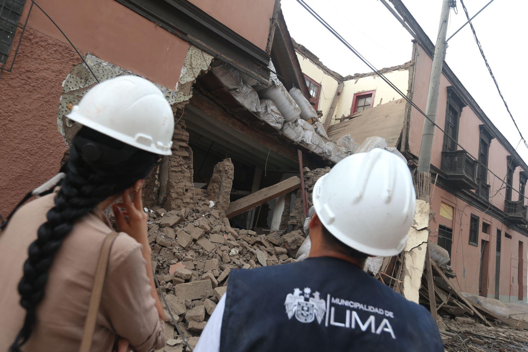 Especialistas de la MML se encuentran evaluando los daños. Foto: ANDINA/Jhonel Rodríguez Robles