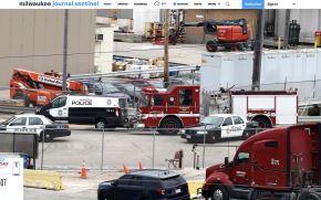 Escenario del tiroteo en Milwaukee. (Foto: Milwaukee Journal Sentinel. INTERNET/Medios)