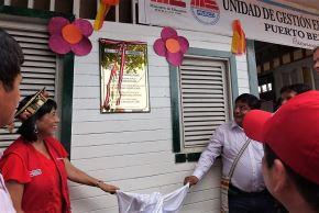 El Ministerio de Educación inauguró una nueva UGEL en Puerto Bermúdez, región Pasco.