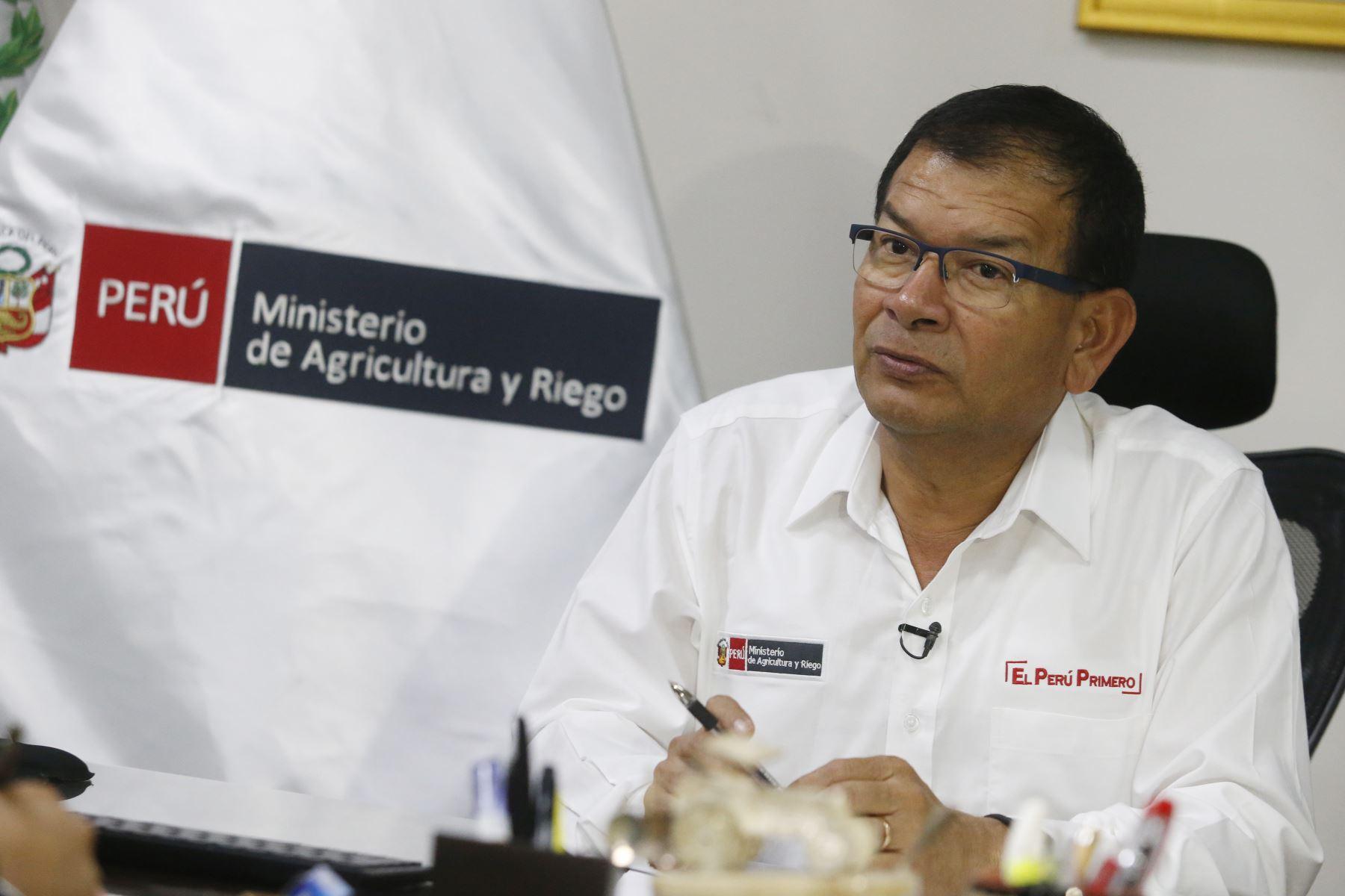 Ministro de Agricultura y Riego, Jorge Luis Montenegro. ANDINA/Eddy Ramos