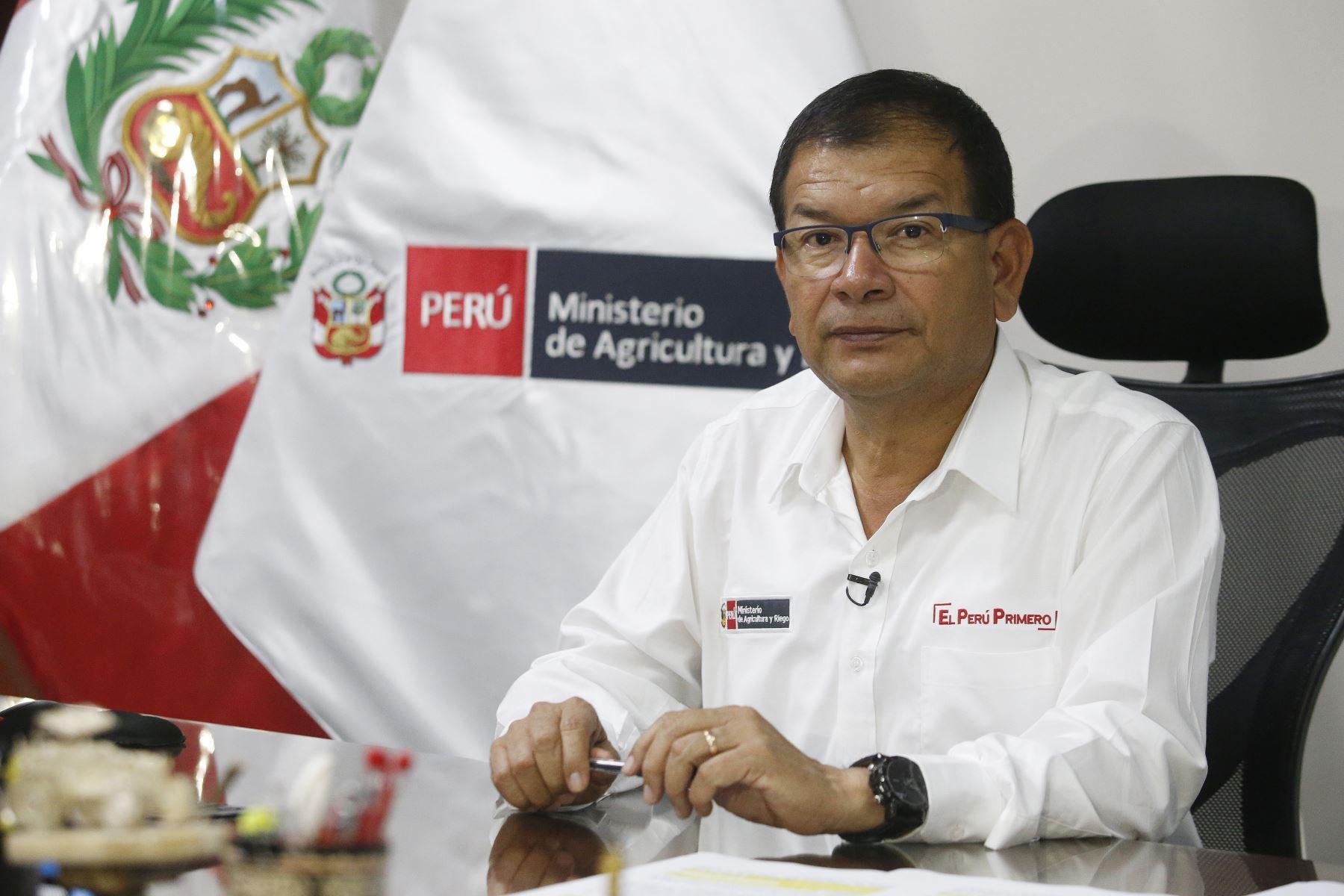 Ministro de Agricultura y Riego, Jorge Montenegro.Foto: ANDINA/Eddy Ramos