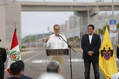 Inauguración de obra vía Costa Verde, tramo av. Rafael Escardó-jr. Virú