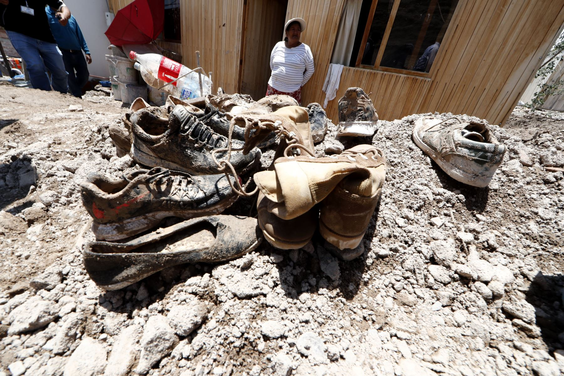 Por lo menos 105 familias afectadas y 10 familias damnificadas en Moquegua,  el desborde del río.  Foto: ANDINA/Carlos Lezama