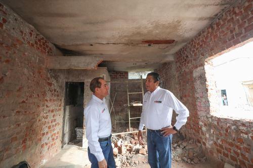 Ministros supervisan trabajos en Villa el Salvador