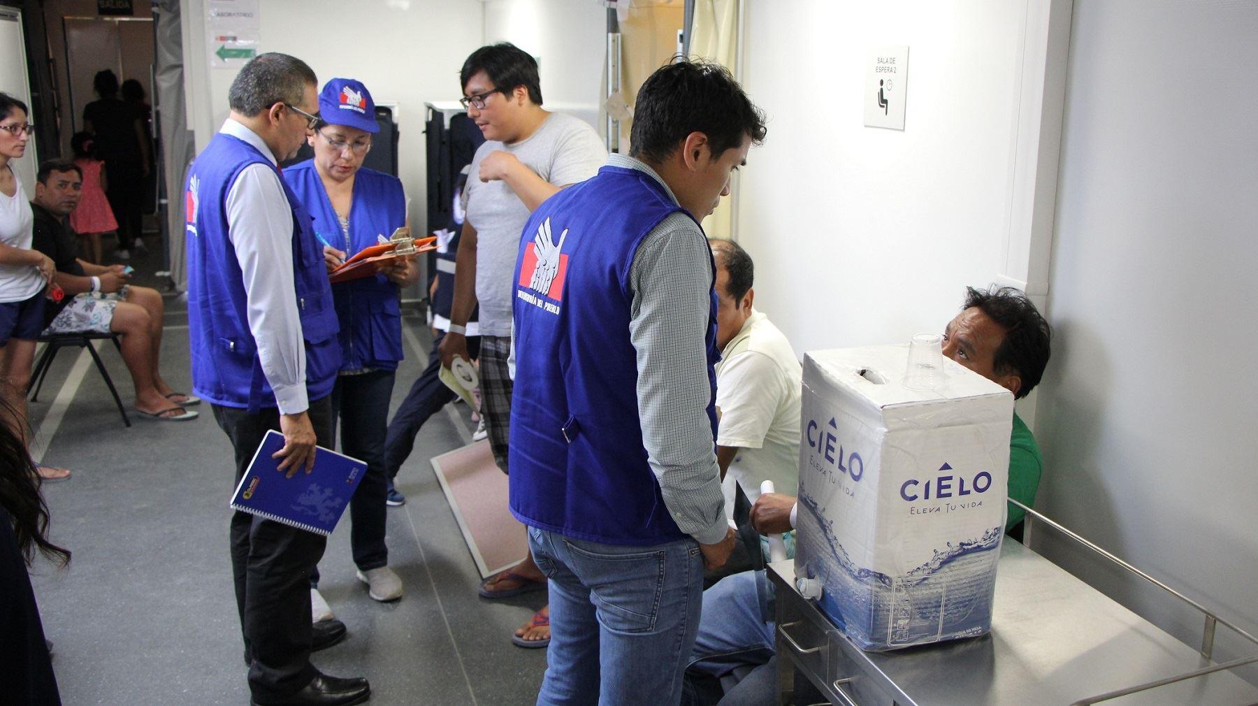 Defensoría del Pueblo inspecciona servicios de emergencia de hospitales de Lima y Callao