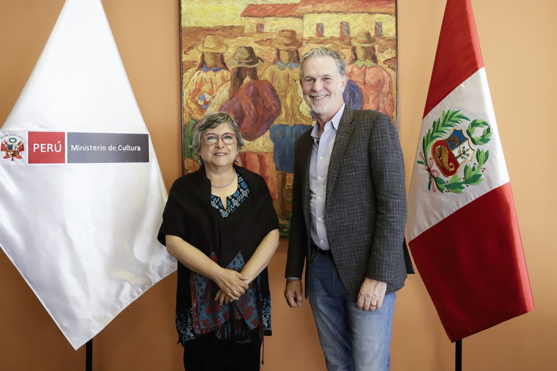 La titular del Ministerio de Cultura se reunió con el CEO de Netflix.
