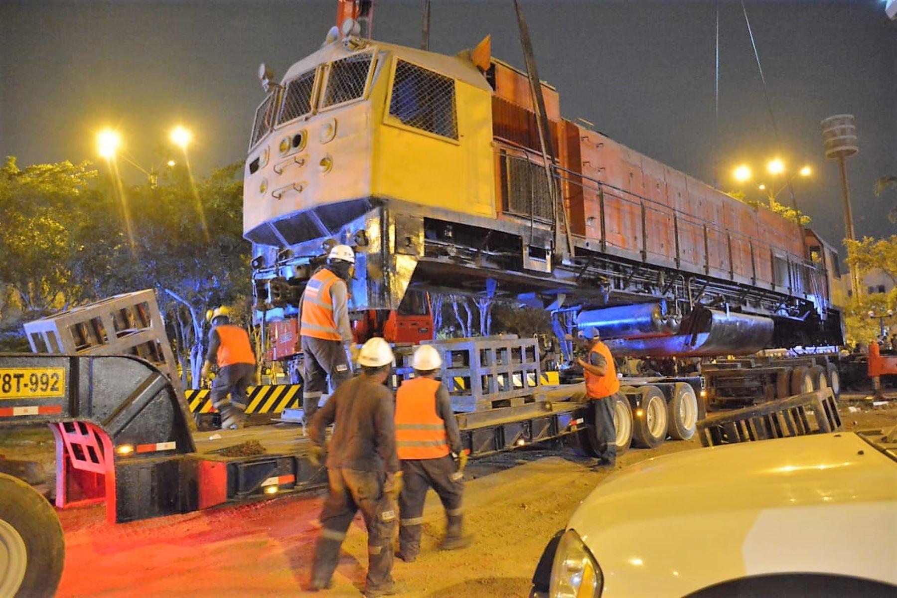 Antigua locomotora fue donada por el Ministerio de Transportes y Comunicaciones en 2010.