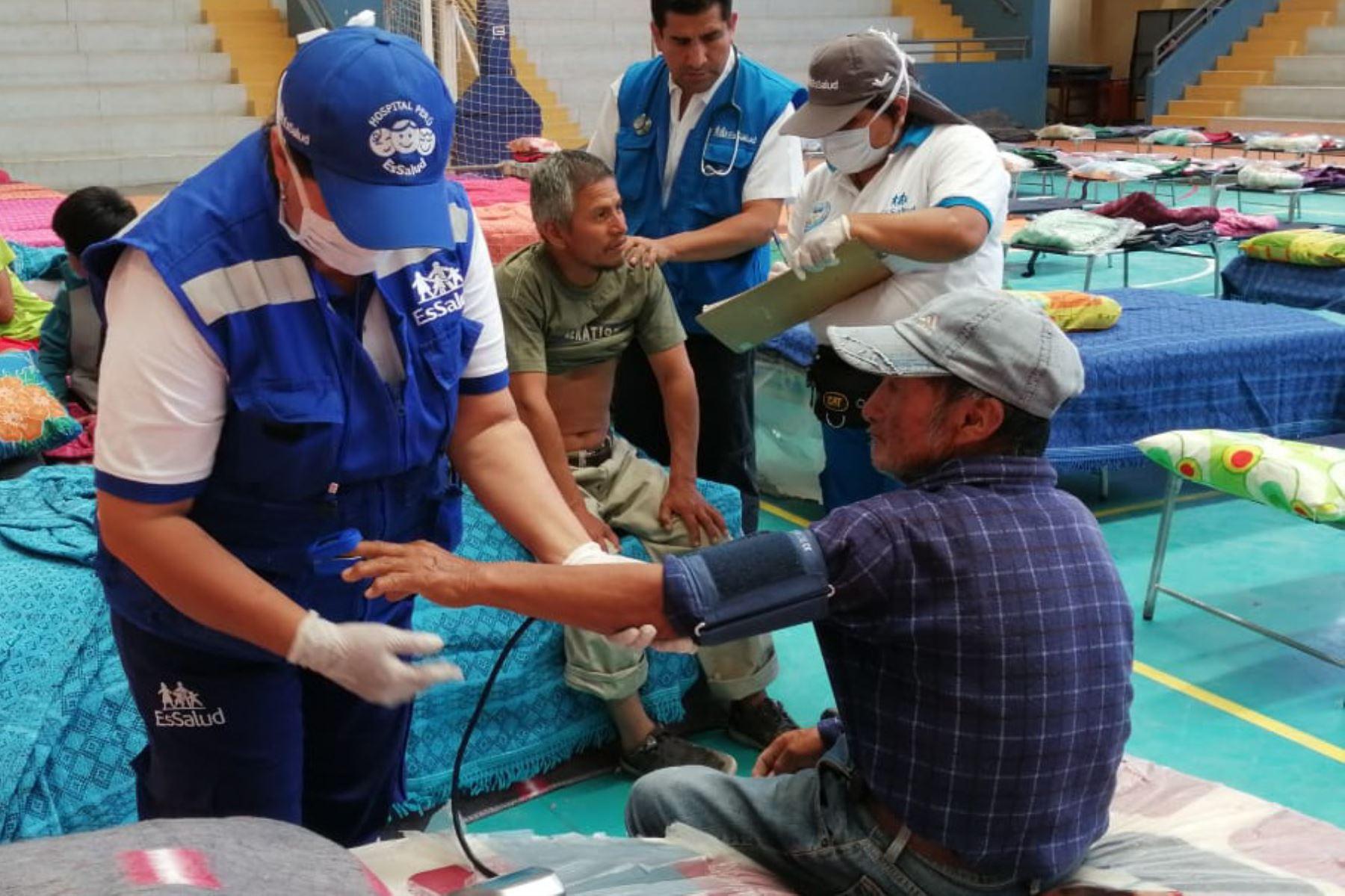 EsSalud implementa plan para atender a damnificados por intensas lluvias en regiones