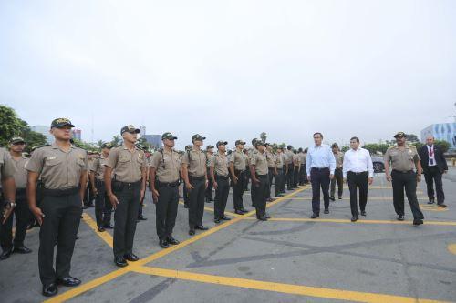 Presidente Vizcarra presenta nuevo contingente policial para patrullaje en Lima y Callao