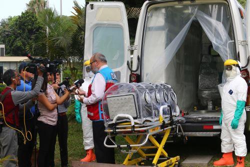SAMU muestra equipos para traslado de pacientes con posible diagnóstico de coronavirus