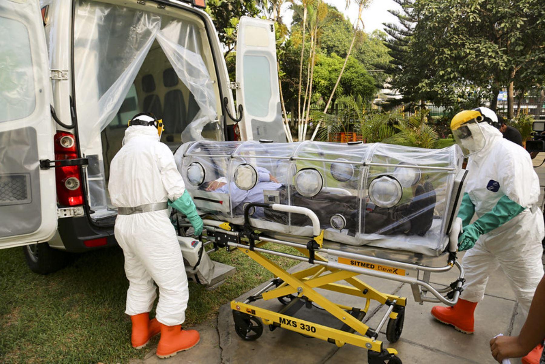Nivel de bioseguridad de las ambulancias es superior a las normas establecidas de lo que requiere el COVID-19.Foto: Minsa