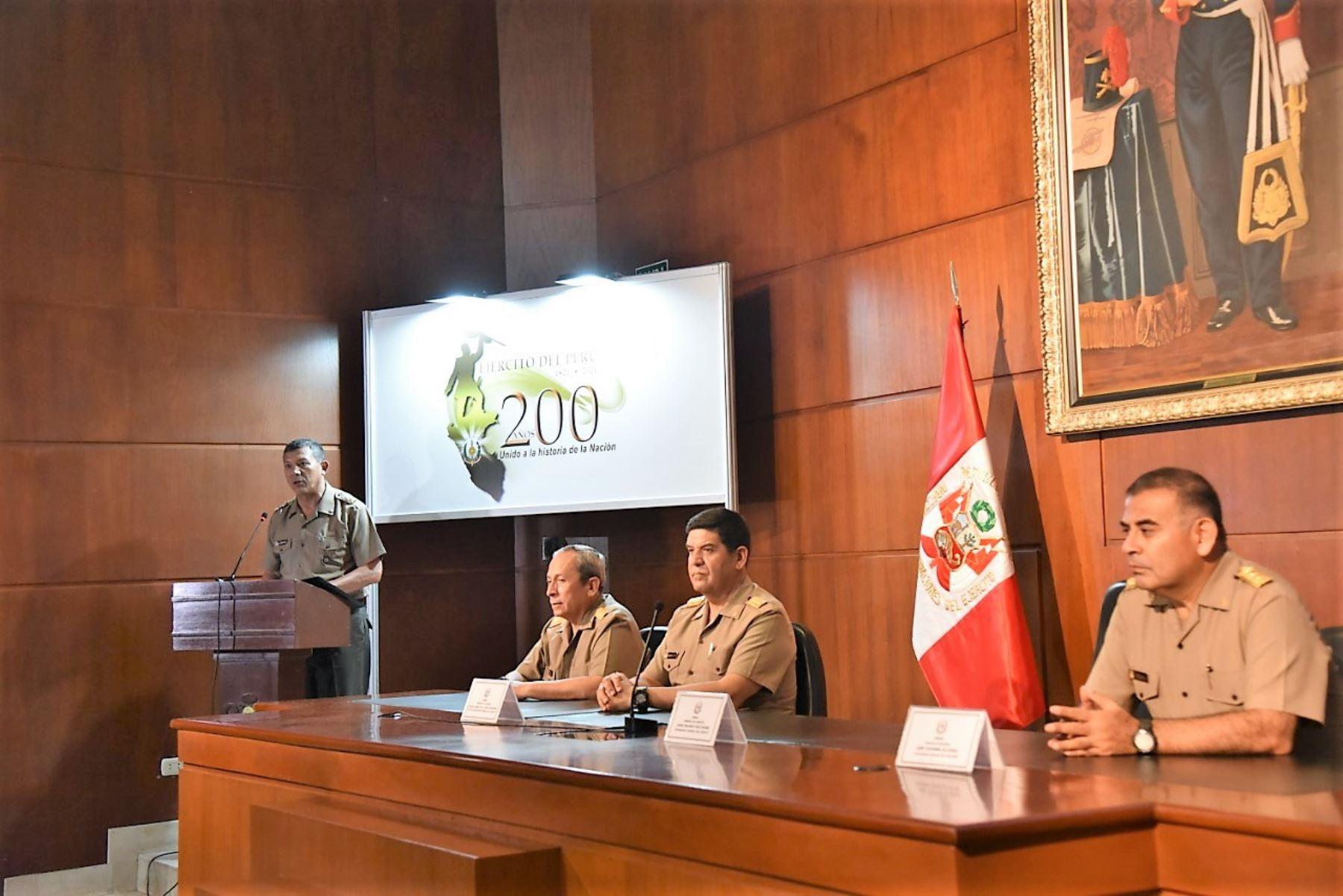 Ejército del Perú presentó el logo oficial para las celebraciones de su bicentenario en 2021.